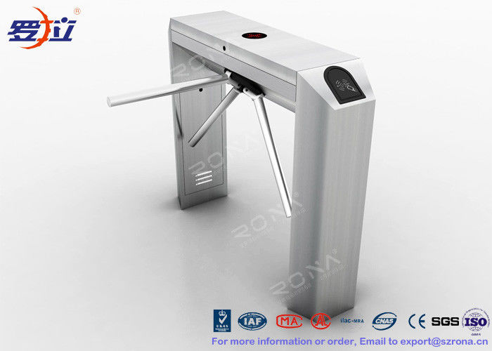 Pedestrian Control Tripod Turnstile Gate 304 Stainless Steel Housing Material