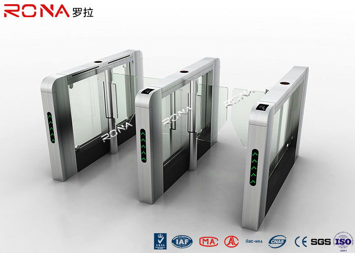 Card Reader Speed Gate Turnstile System Lane Swing Type Servo Motor Driving