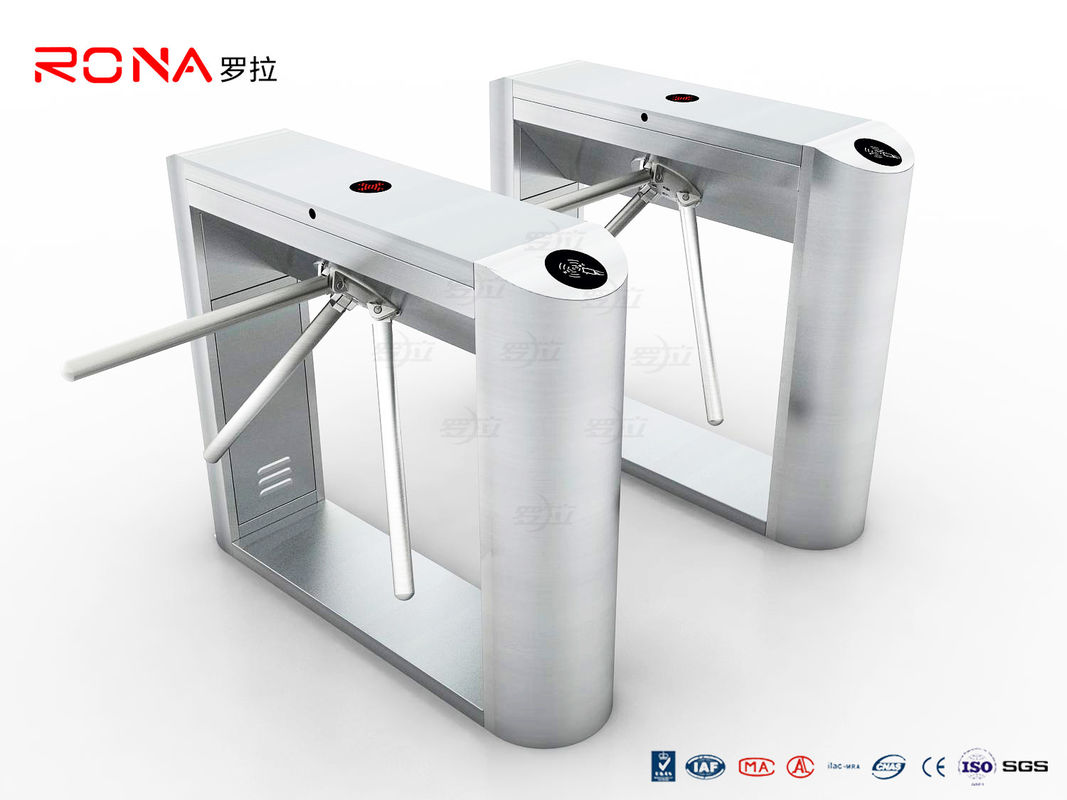 Stainless Steel RFID Flap Barrier Turnstile Attendance Tripod Barrier Gate